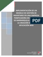 Anteproyecto Implementación de Un Modelo de Gestión de Inventarios en Una Empresa Panificadora