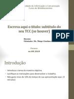 Modelo Apresentação TCC 2019