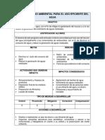 Ficha Plan de Manejo