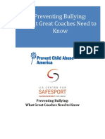 Preventing Bullying- What Great Coaches Need to Know