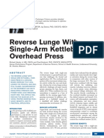 Reverse Lunge With Single-Arm Kettlebell Overhead Press