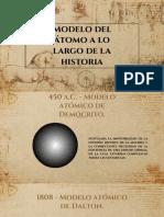 Historia Del Modelo Del Atomo