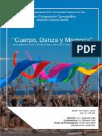 Tesina de Graduación UNA Danza-Teatro. Mercedes Lastra