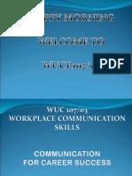 Wuc107 Tutorial 1 Ppt