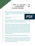 El Proceso Único de Ejecución y Sus Principales Características