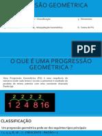 Trabalho de Series Progressão Geométrica