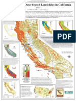 Map-Poster_Susceptibility to Deep-Seated Landslide in California_C.J. Wills Et Al 2011