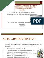 PPT CLASE VALIDEZ DE LOS ACTOS ADMINISTRATIVOS 1.pptx