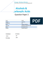 26.2 Alcohols Carboxylic Acids Qp - Igcse Cie Chemistry - Extended Theory Paper
