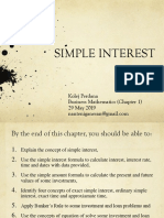 Topic 1 (Simple Interest)