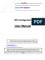 IED Configurator User Manual