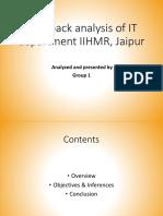 Feedback analysis of IT department IIHMR, Jaipur.pptx