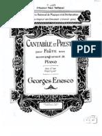 Enesco - Cantabile and Presto Flute and Piano