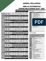 Jadwal Ganjil 2019-2020