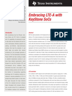Embracing LTE-A With Keystone SoC