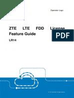 ZTE LR14 LTE FDD License Feature Guide