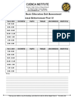 Review for Basic Education Exit Assessment