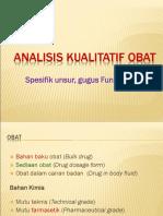 Analisis Kualitatif Gugus Fungsi Obat