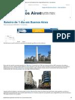 Buenos Aires - Roteiro de 1 dia