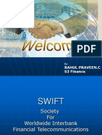 SWIFT Society For Worldwide Interbank Financial Telecommunications PPT