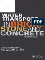 Water Transport in Brick, Stone and Concrete-CRC Press (2002)