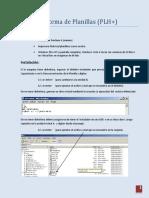 Manual del Sistema de Planillas (PLH+) version Beta