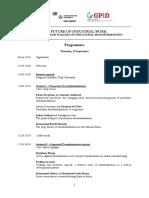 Vienna 2019 Workshop Programme
