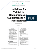 Guidelines for Yiddish in Bibliographies_ A Supplement to YIVO Transliteration _ In geveb