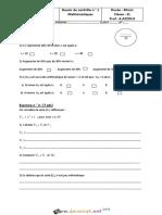 Devoir de Contrôle N°1 - Math - 2ème Lettres (2016-2017) Mr AZZOUZ ABDERRAHMEN