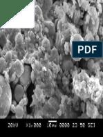 SEM image of fly ash based geopolymer 1000x