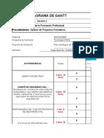 Diagrama de Gannt Pesv 2019 Sena Cimi