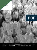 SEM image of fly ash based geopolymer 2000