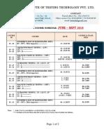 RT level 2 schedule