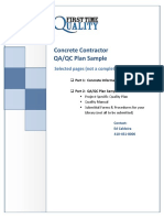 Concrete Quality Control Plan Sample