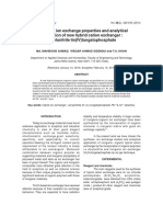 Synthesis, ion exchange properties and analytical application of new hybrid cation exchanger