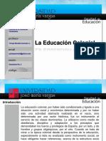 12592091 La Educacion Colonial