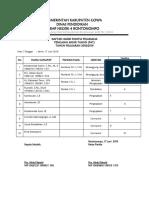 Daftar Hadir Panitia Pat