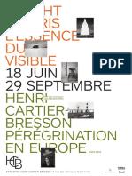 Expositions L'essence du visible de Wright Morris et Pérégrination en Europe de Henri Cartier-Bresson