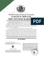 Ley de Timbre Fiscal Actualizada Mayo 2019 Del Estado Barinas