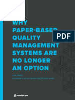 Why a Paper Based QMS is No Longer an Option