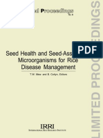 Seed Health and Seed-Associated Microorganisms for Rice Disease Management