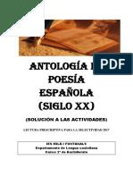 Soluciones antologia poesia española