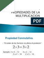 Ppt Propiedades de La Multiplicación
