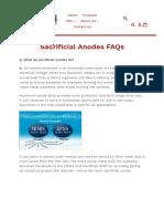 Sacrificial Anodes FAQs – Performance Metals
