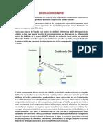 Destilacion Simple