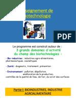 Biotechnologie présentation