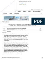 Time to Reform the Civil Services - Daily Times