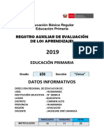 Registro Auxiliar 6to Grado 2019 Xx