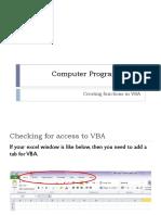 Functions in VBA Excel 2010