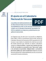 FSS Informe 50 - El ajuste en el Calendario Nacional de Vacunación - Julio 2019